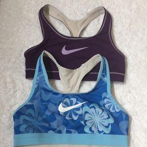 2 Nike sport bras